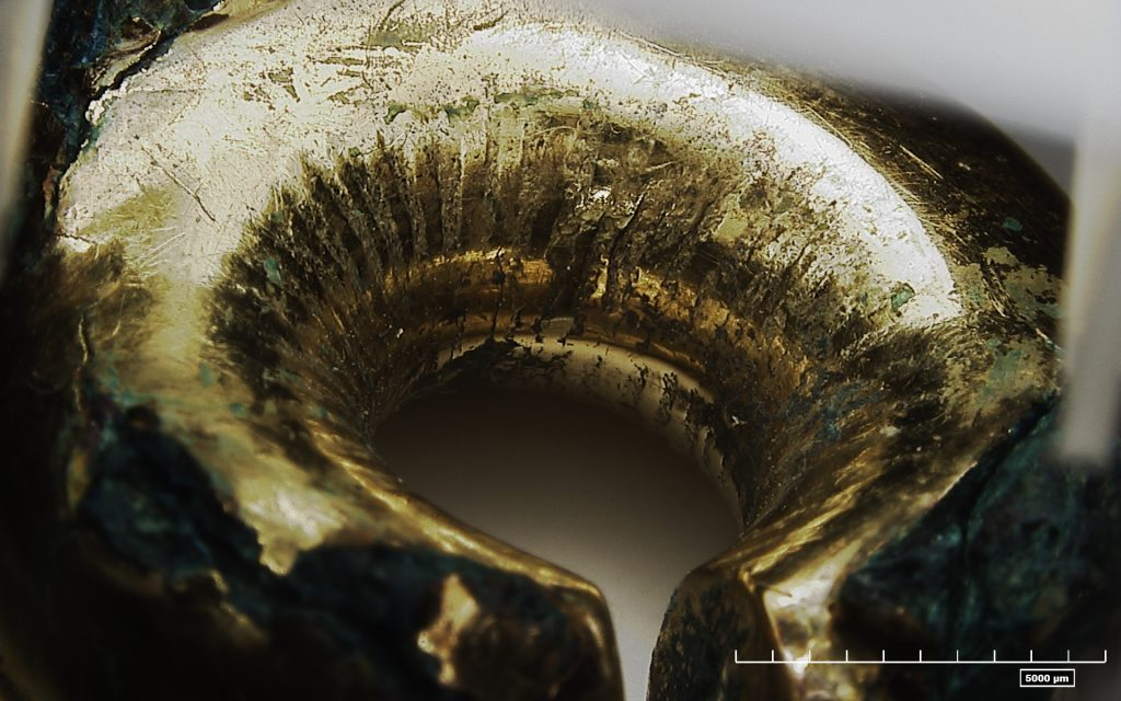 Late Bronze Age penannular 'hair ring' from Cladh Hallan, South Uist