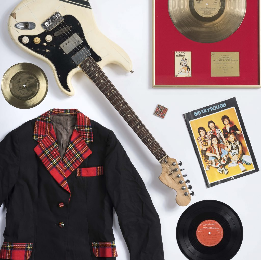 Bay City Rollers items on loan from private collections