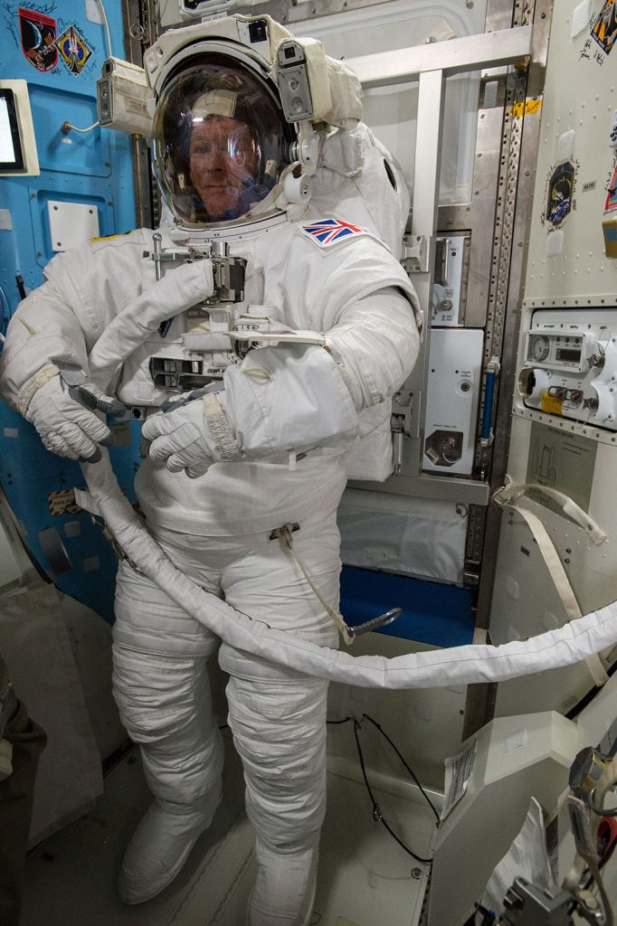 Tim Peake tests spacesuit