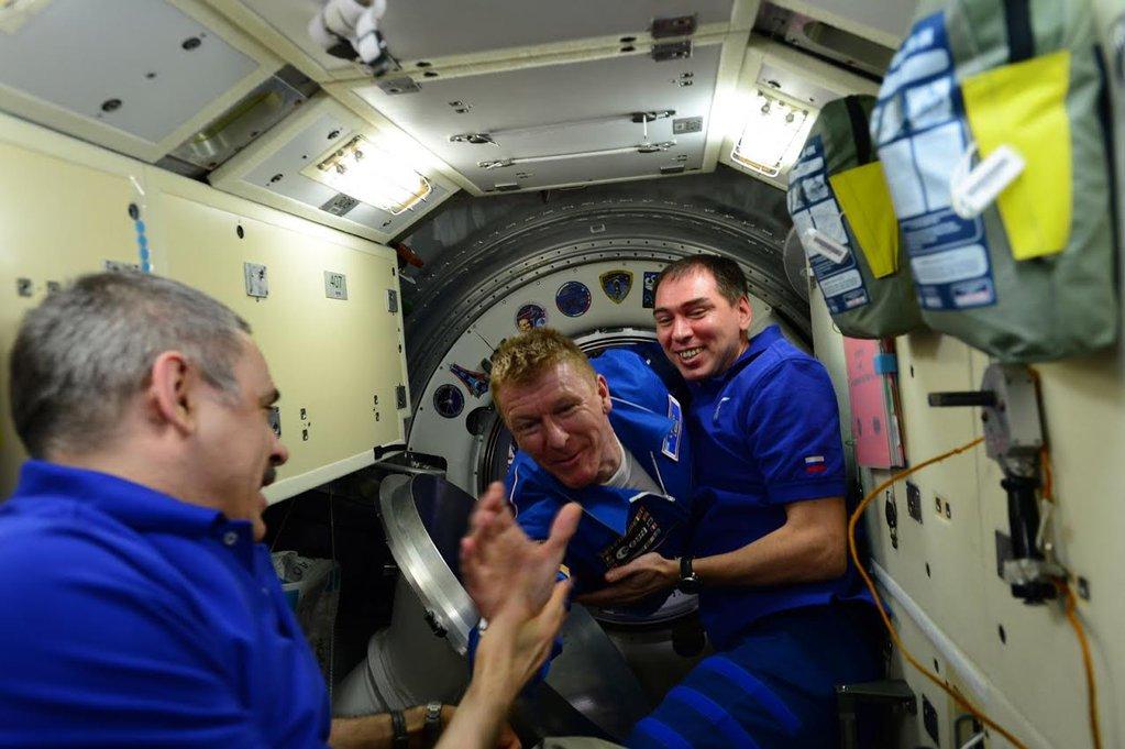 Tim arrives at Space Station