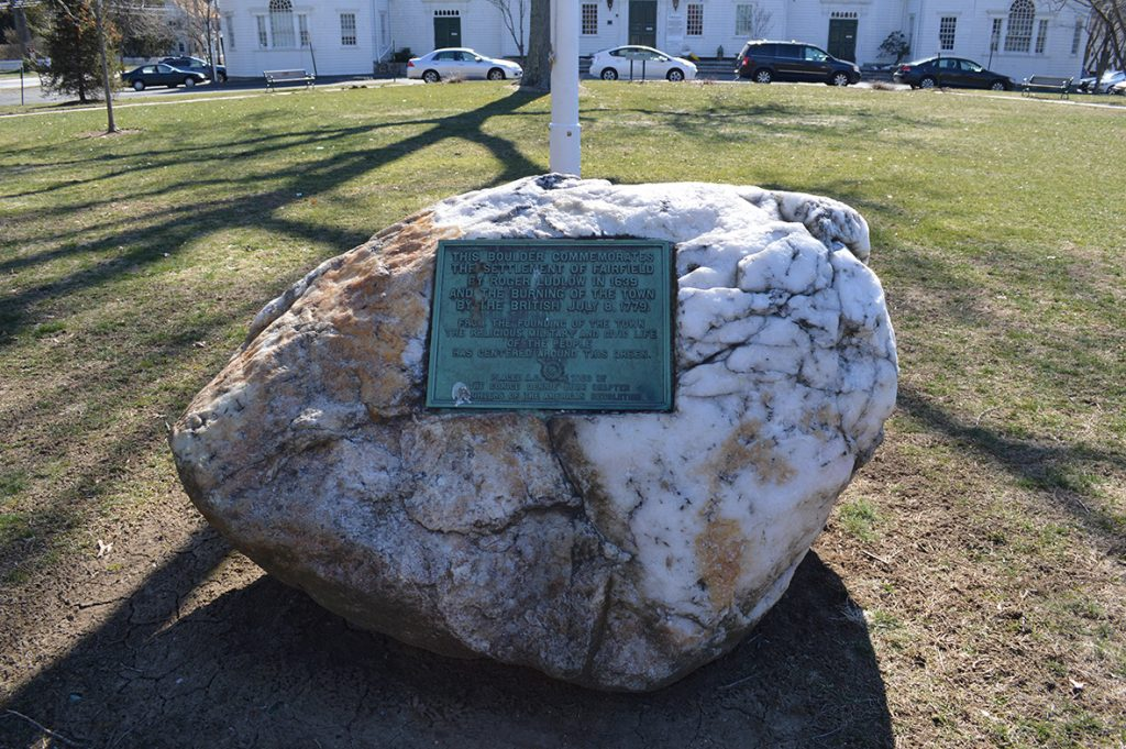 Fairfield commemorative boulder