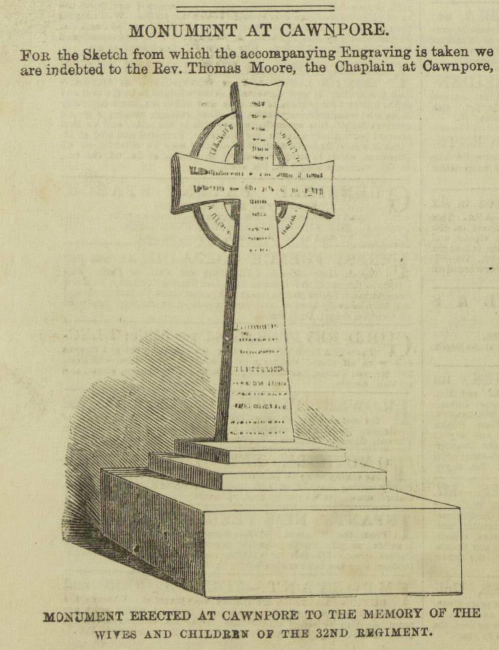 'Monument at Cawnpore', Illustrated London News, 27 March 1858, p. 332.