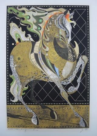Nakayama Tadashi, 'Dancing Stallion' (1987)
