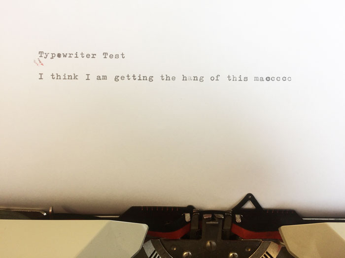 Typewriter test.