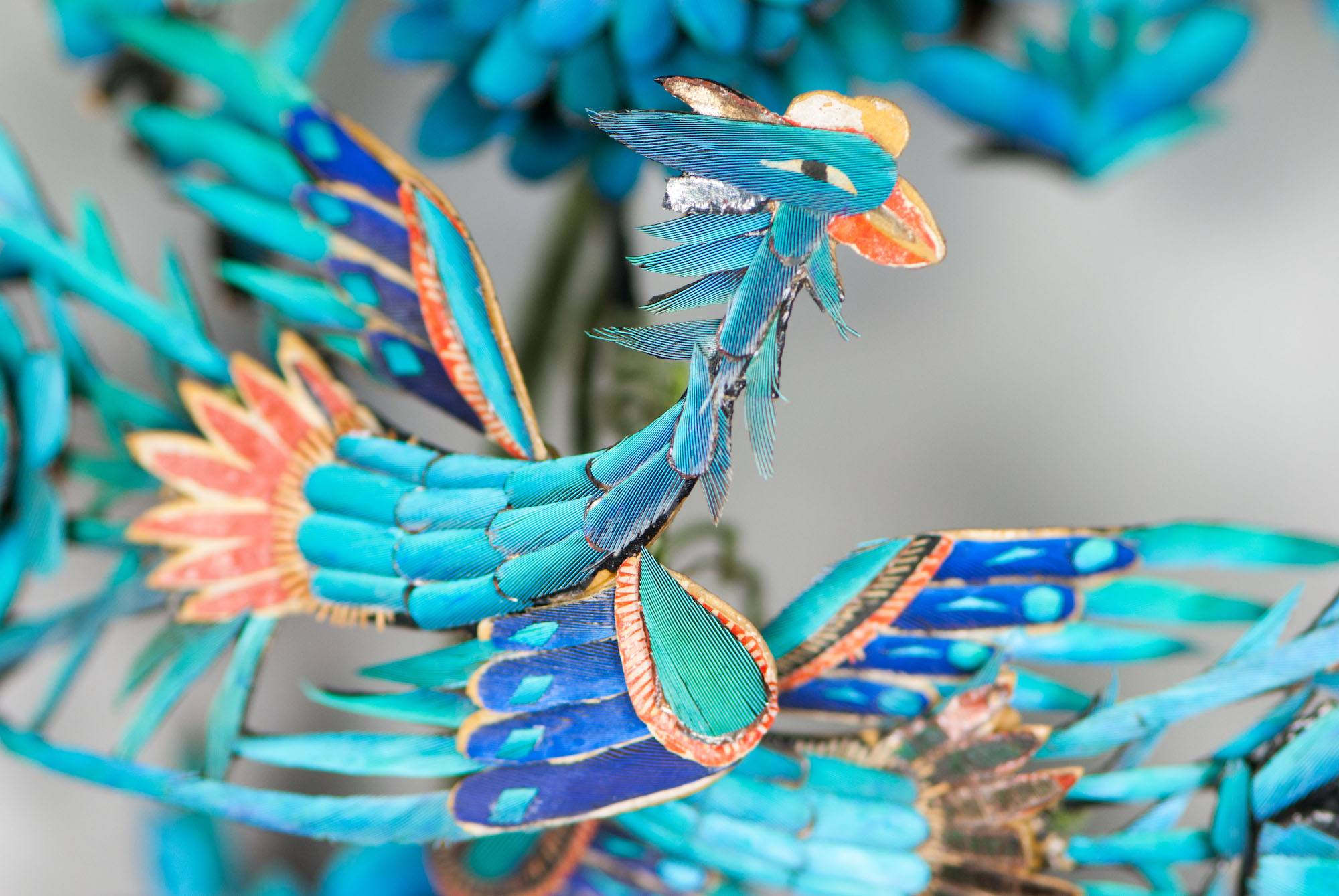 Detail of phoenix from the Kingfisher headdress
