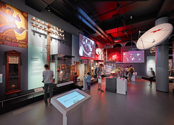 Photography of an interactive gallery in the museum