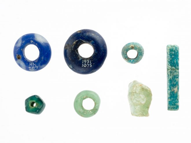 Late Bronze Age, Iron Age and Roman glass beads from Sculptor's Cave, Covesea, Moray