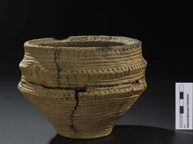 Early Bronze Age food vessel from Dunure Road, Ayr