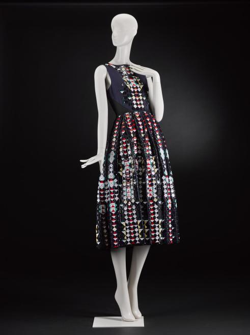 Mannequin wearing a dress