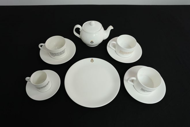 The Empire Cafe tea set