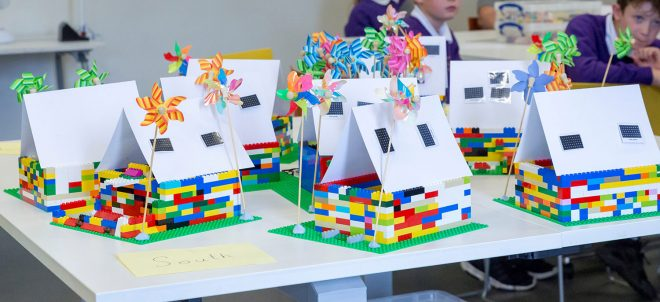 Sustainable houses made from LEGO™. © Ruth Armstrong Photography.