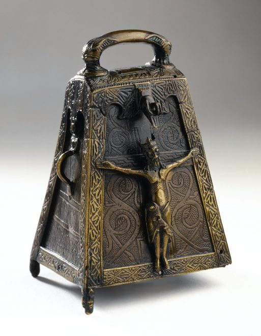 12th-century bronze reliquary for an early medieval iron handbell from Kilmichael Glassary, Argyll.