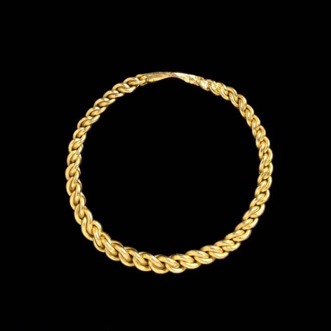 Gold arm-ring from Oxna, Shetland, 11th century
