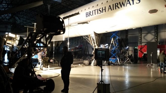 Two scenes on board Concorde filmed over the course of a whole day on 28 November 2016 on Concorde G-BOAA.