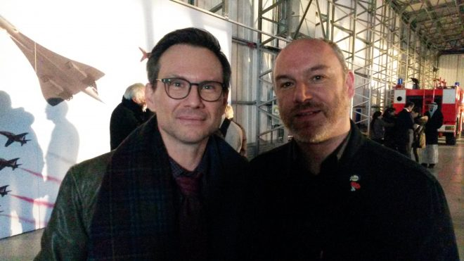 Selfie with Christian Slater during the filming of The Wife in November 2016.