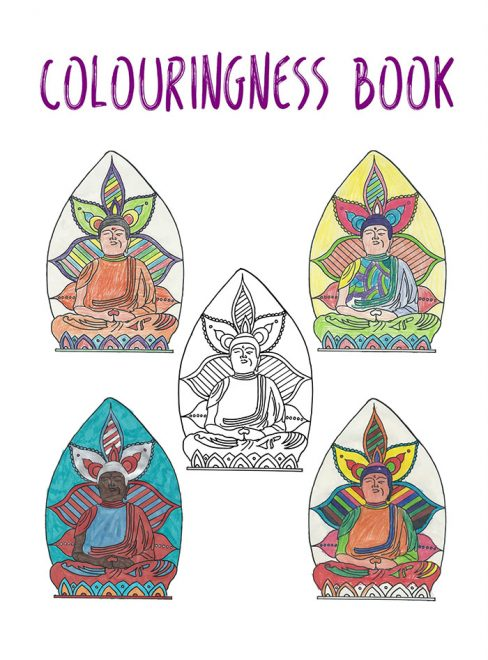 The front cover of the Colouringness Book.