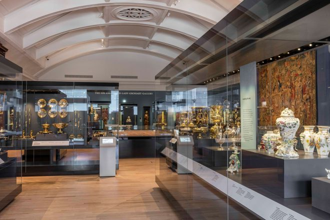 The peaceful Art of Living gallery in the National Museum of Scotland