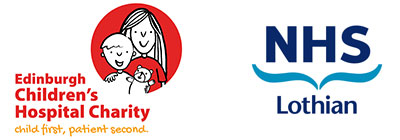 Edinburgh Children's Hospital Charity and NHS logos