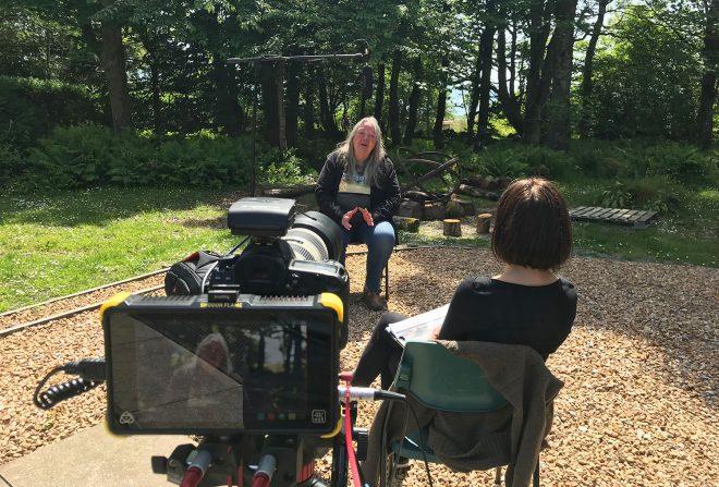 Interviewing Maggie Fyffe.