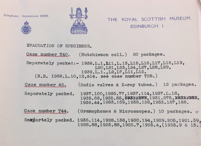 """Evacuation of Specimens"" document"