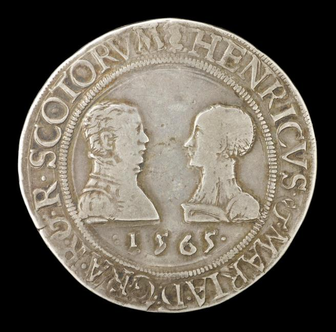 Silver ryal (marriage ryal) of Mary, Queen of Scots, and Henry, Lord Darnley, Scotland, minted in Edinburgh, 1565