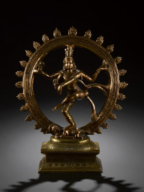 Figure of Shiva Nataraja (Lord of the Dance), used in religious observances, on display in the Inspired by Nature gallery at the National Museum of Scotland.