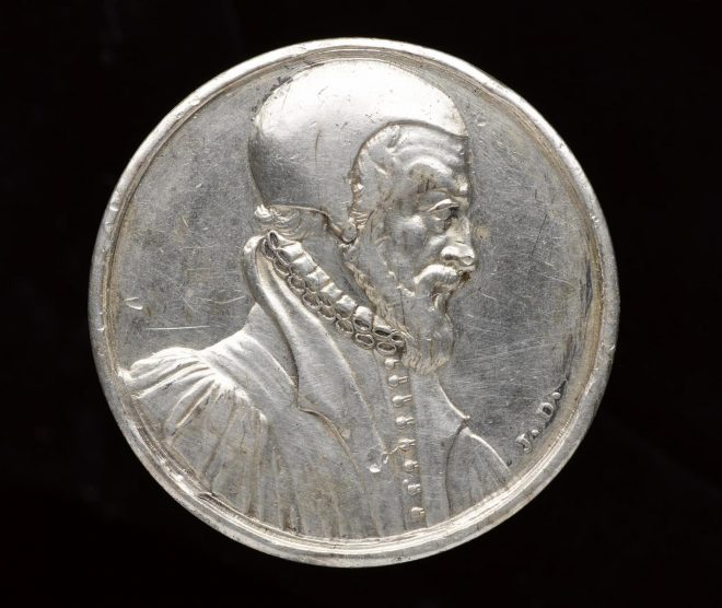 Silver medal of John Knox, d. 1572, by Jean Dassier, 1700 - 1763