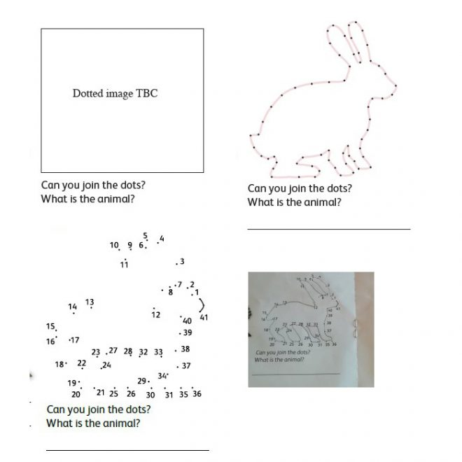 The development of the rabbit dot-to-dot task in the Creature Quest trail.