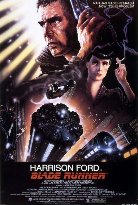 Futuristic movie poster for Blade Runner