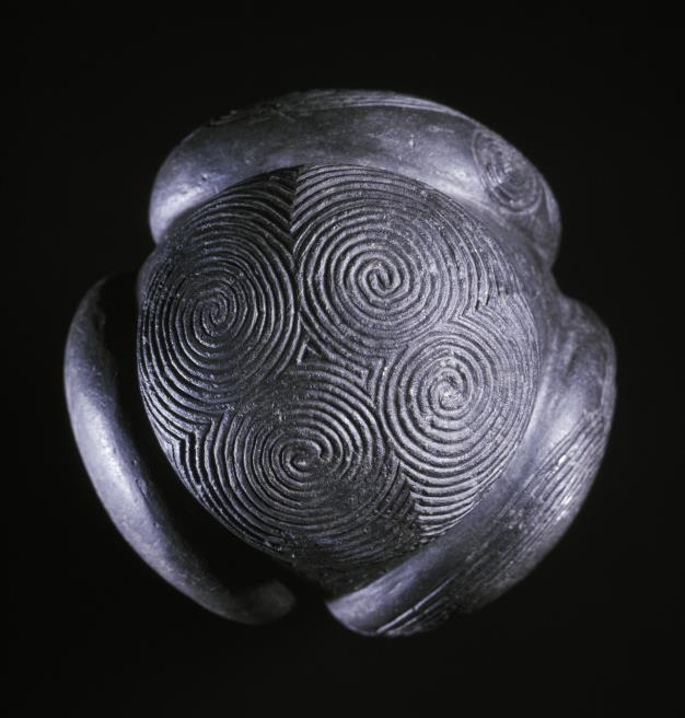 The Towie Ball, a carved stone ball was found in Aberdeenshire.