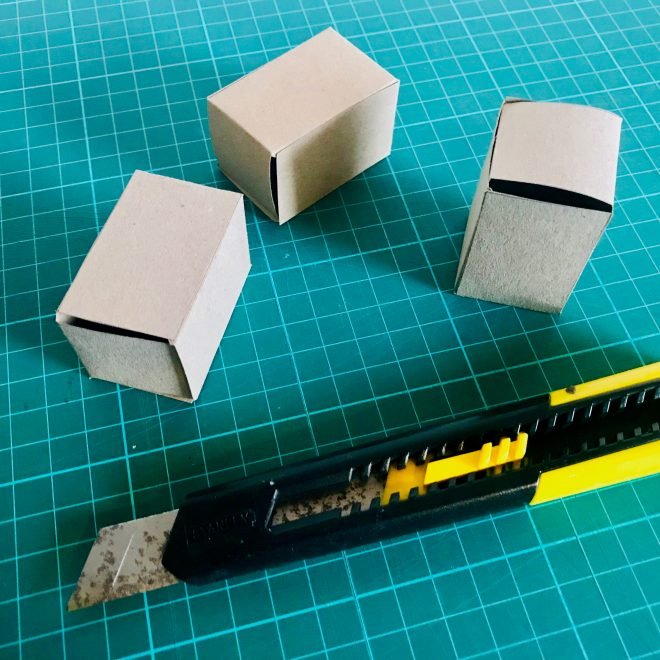 Mini blocks for the scale model.