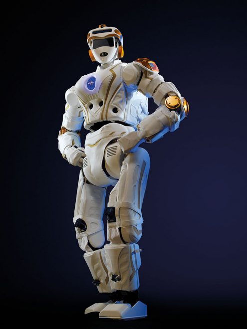 Valkyrie humanoid robot created by the Johnson Space Center. Image © NASA/Johnson Space Centre.