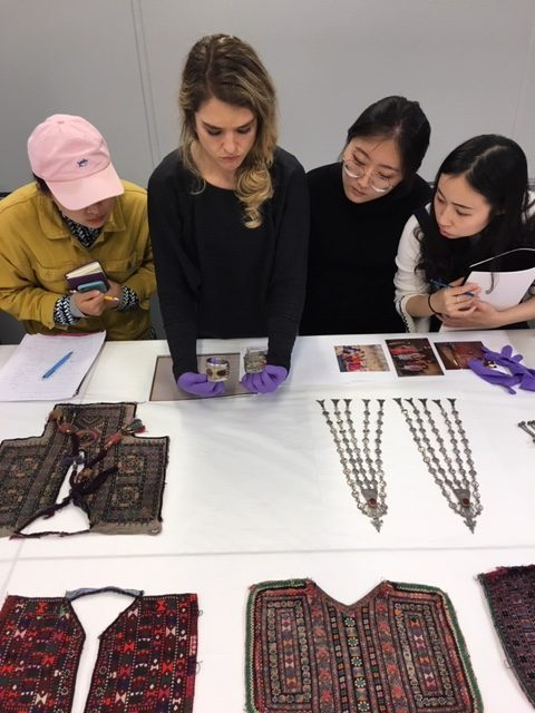 Jenny Gray and students studying pieces