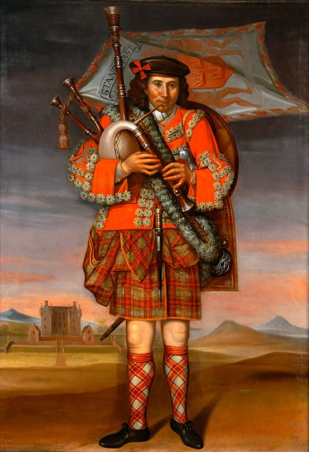 Painting of the Laird of Grant's Piper, William Cumming, by Richar Waitt, 1714.