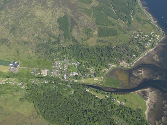 Village of Strontian from the air
