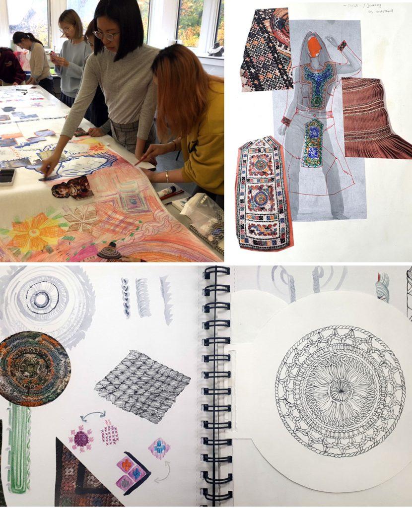 Student sketchbooks and design development