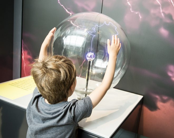 Electricity plasma ball in the Science and Technology galleries