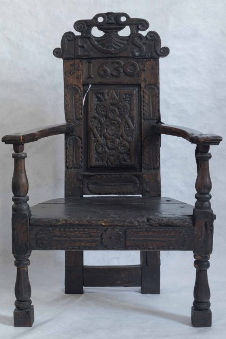 Chair, dated 1630, collected near Stirling, University of Aberdeen (ABDUA 18009), Photo: Nick Haynes.
