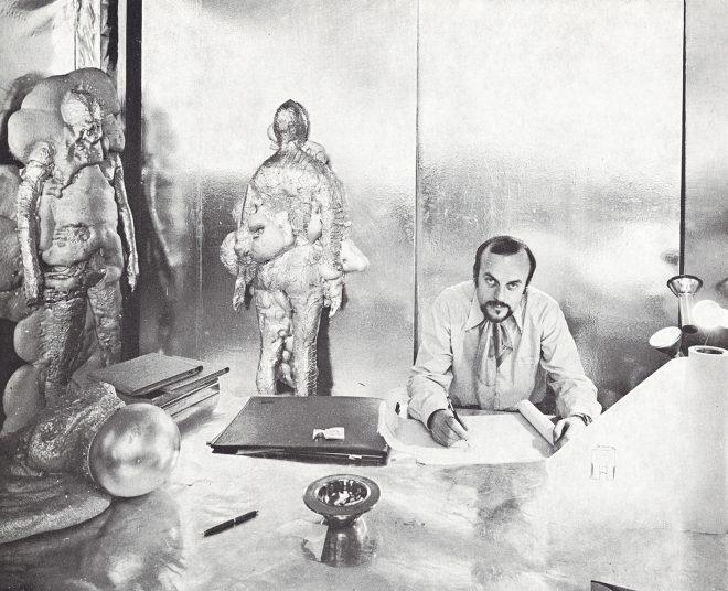 Björn Wecktröm in his studio in the Lapponia Jewelry premises in the 1960s. Photo © Kalevala Koru
