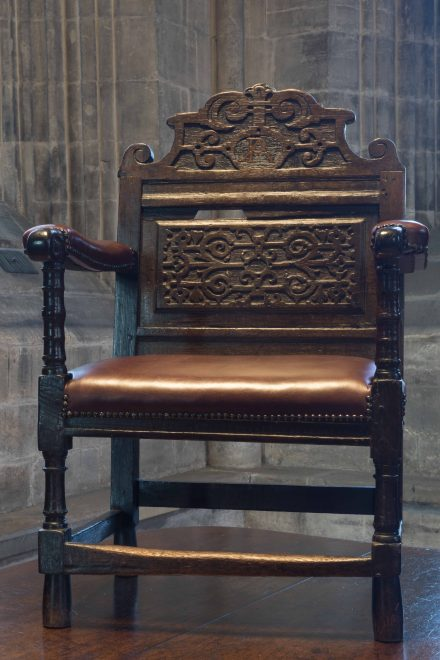 Chair, early 17th century, Glasgow Cathedral Joint Session. Photo: Nick Haynes.