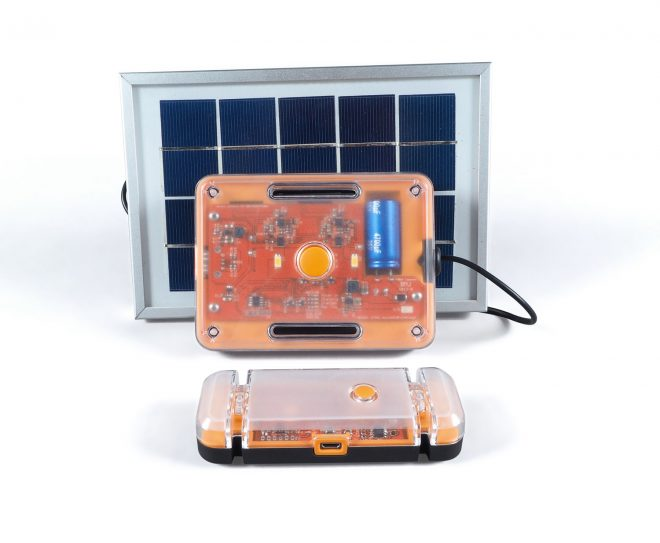 The Solar What?! solar powered torch.