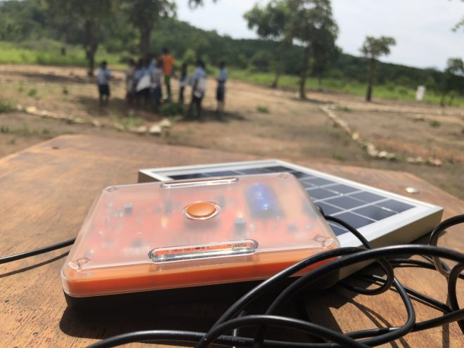 Testing the Solar What?! in Zambia.