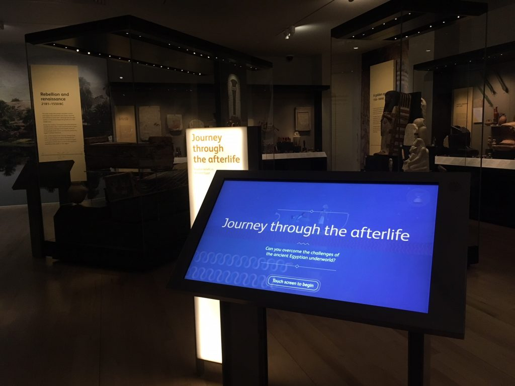 Journey through the afterlife is an interactive in the ancient Egypt gallery
