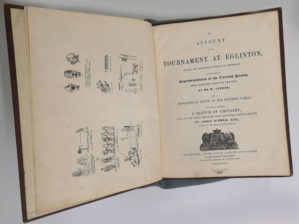 James Aikman & W. Gordon, An Account of the Tournament at Eglinton (Edinburgh: Hugh Paton, 1839)