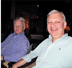 Dan Klein and Alan J Poole together in 2008. Reproduced with kind permission of Alan J Poole