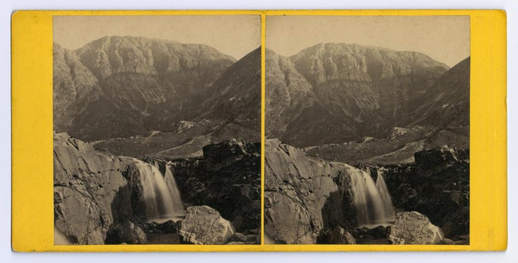 Stereocard depicting a view in Glencoe, by George Washington Wilson & Co., Aberdeen.