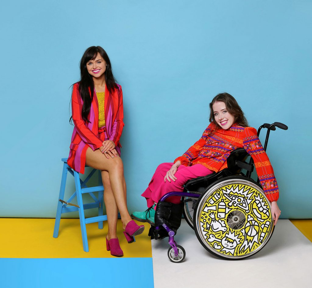 Ailbhe and Izzy, founders of Izzy Wheels. Photo by Sarah Doyle, wheels by Timothy Goodman.
