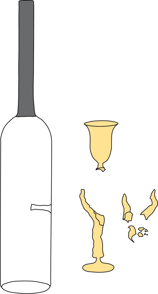 Diagram of bottle and parts