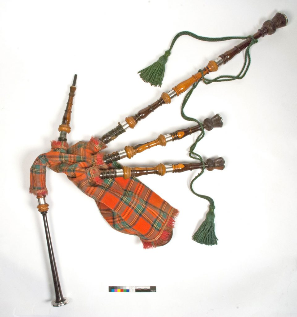 The Highland bagpipe after conservation.