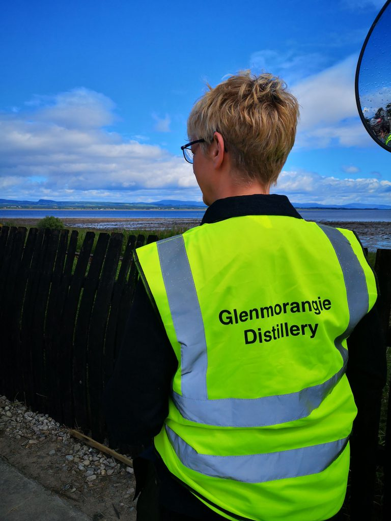 Simone during a behind the scenes tour of the Glenmorangie Distillery, Tain